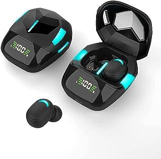 Trådlösa hörlurar Bluetooth 5.1, Gaming in-ear hörlurar IPX4 headset med mikrofon automatisk parning TWS stereohörlurar me...