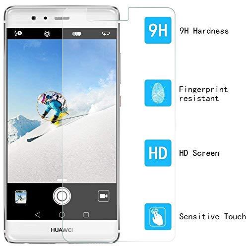 [3 Stück] Huawei P9 Schutzfolie, MaxTeck Gehärtetem Glas Panzersglas Hartglas Displayschutz für Huawei P9 9H Härte, Anti-Kratzen, Anti-Öl, Anti-Bläschen - 4