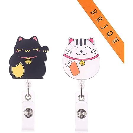 Funny British Badge Holder Nurse Jewelry 758 Retractable Id Card Holder Nurse ID Badge Clip Teacher Gift Cat Name Badge Reel LPN RN