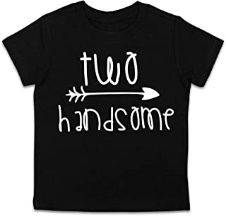 077d9475a Second Birthday Shirt Two Handsome Shirt 2nd Birthday Tee (Black, 2T)