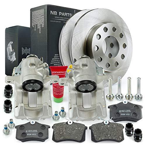 Bremsen/2x Bremssattel + Bremsscheiben + Bremsbeläge hinten NB PARTS GERMANY 10069565