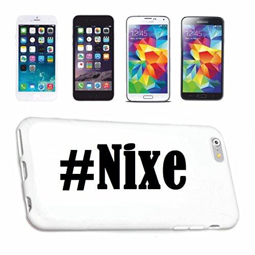Reifen-Markt Handyhülle kompatibel für iPhone 7S Hashtag #Nixe im Social Network Design Hardcase Schutzhülle Handy Cover Smart Cover