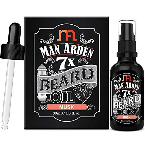 Man Arden 7X Beard Oil 30ml (Musk) - 7 Premium Oils For Beard Growth & Nourishment