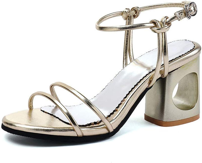 GAO-GEN1 32-45 Ladies High Heels Fretwork Women shoes Woman Casual Party Summer Women's Sandals