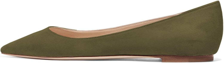 Amarantos ATFX006 Women's Fashion Pointed Toe Slip On Dress Comfort Flats Ballerina shoes