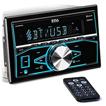 BOSS Audio Systems 820BRGB Multimedia Car Stereo - Double Din Bluetooth Audio and Hands-Free Calling MP3 Player USB Port AUX Input AM/FM Radio Receiver No CD/DVD Multi Color Illumination