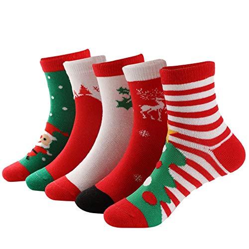 KnuraLA Socken Damen Sportsocken Mode Winter Damen Unisex Weihnachtsmode Strümpfe Komfort Socken...