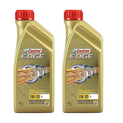 2x 1 L Liter Castrol Edge Fluid Titanium 5W-30 LL Motoröl inkl. Castrol Ölwechselanhänger