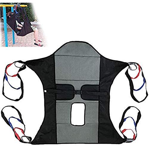 WANGXNCase Cinturón de Transferencia con Lazos de Pierna con Apertura De Inodoro Elevador De Pacientes para Bariátrico, Enfermería, Cuidador, Ancianos, Discapacitados, con Asas