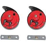 Tromba per auto 12v, clacson doppio tono 150DB, clacson elettrico impermeabile per auto, moto, moto e barche (2 pezzi)