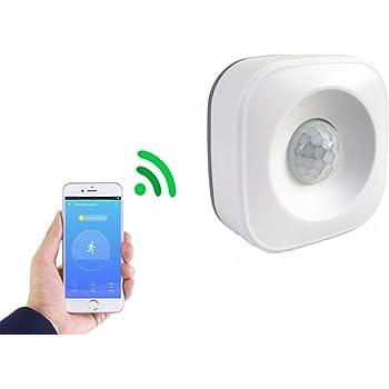 VIMOER PIR Bewegungsmelder – WiFi PIR Bewegungsmelder für Haus Sicherheits Alarm, kompatibel mit Smart Life Google Home und mehr