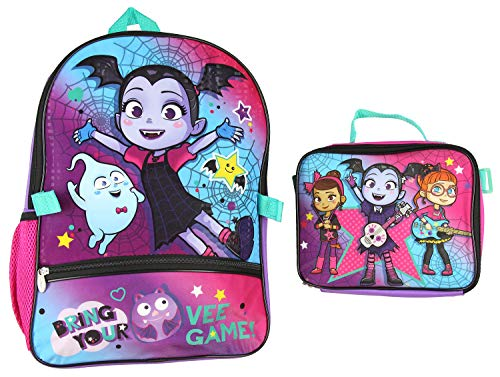 Disney Vampirina Backpack and Lunch Box Set (Detachable)