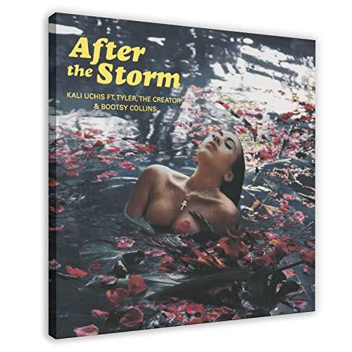 Cantante Kali Uchis After The Storm Álbum Cover (2) Póster de lona para decoración de dormitorio, paisaje, oficina, habitación, regalo, 30 x 30 cm, marco1