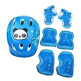 Cloudbox Rodillera-7pcs/set Deportes Protectora Protectora Almohadillas Set Equipo Para Monopatín (azul)