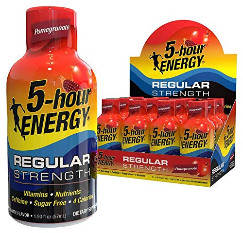 5-hour ENERGY Shot, Regular Strength, Pomegranate, 1.93 Ounce, 12 Count