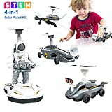 Mochoog STEM Toys for Boys, Educational Solar Robot Kit 4 in 1 - Solar Powered Building Science Experiment Kit for Kids - Space Toys Gifts for 8 9 10-12 Years Old Boys & Girls