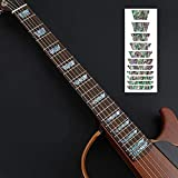 Guitar Fretboard Stickers Markers Inlay Sticker Decals for Guitar& Bass-Elegant Caibei