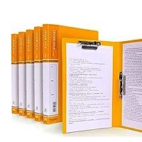 法的パッドのためのホールダーA4クリップボードホールダー会議ホールダー、カバーが付いているホールダーの仕事の折りたたみ式クリップボード、ポートフォリオオーガナイザーA4クリップボード (Color : Yellow)