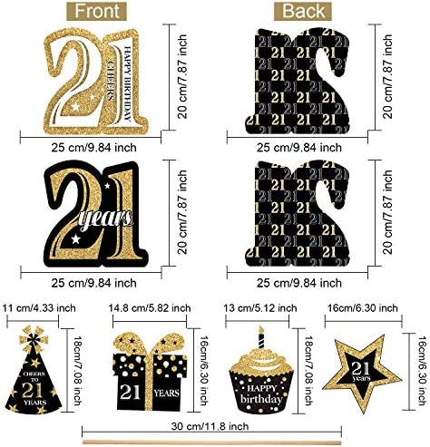 21st birthday centerpieces _image2