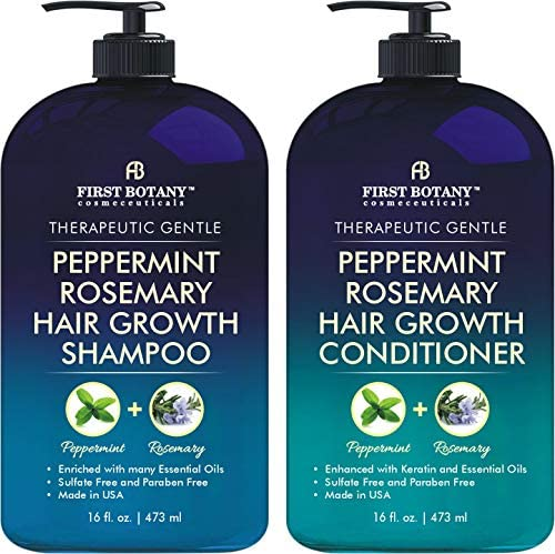 Peppermint Rosemary Hair Regrowth and Anti Hair Loss Shampoo and Conditioner Set Daily Hydrating product image