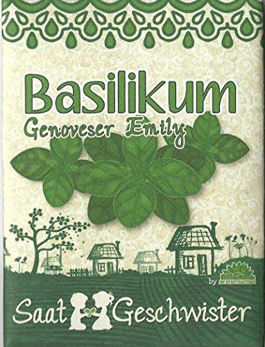 Die Stadtgärtner Basilikum-Saatgut | harmoniert wunderbar mit Olivenöl | schnell wachsende Samen | Sorte