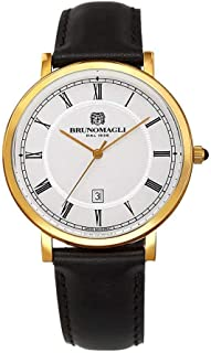 Bruno Magli Men's Milano 1201 Swiss Quartz with Italian Leather Strap Watch