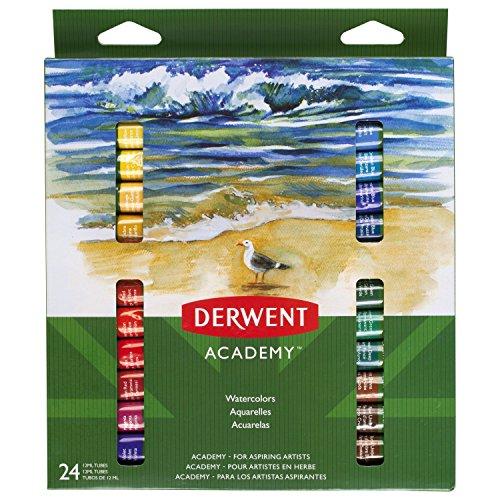 DERWENT 98222 - Pack de 24 tubos de acuarela de 12 ml