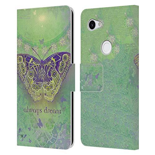 Head Case Designs Licenciado Oficialmente Duirwaigh Mariposa Insectos Carcasa de Cuero Tipo Libro Compatible con Google Pixel 3a
