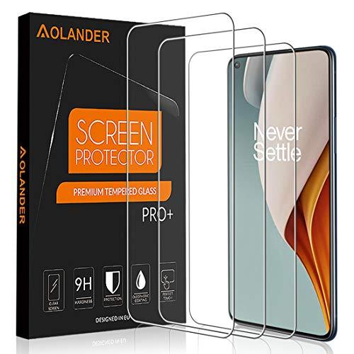 AOLANDER per OnePlus N100/OnePlus Nord N100 Pellicola Vetro Temperato, 9H Durezza Protezione dello schermo [Scratch Resistente] [Anti-Impronta]Proteggi Schermo【3 Pack/Nero】