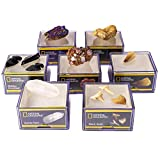 NATIONAL GEOGRAPHIC Jumbo Rock Collection - 11 Extra Large Rocks, Minerals, and Fossils, Great for Any Kids Rock Collection, Includes Acrylic Display Cases for Each Specimen, Perfect for Girls & Boys