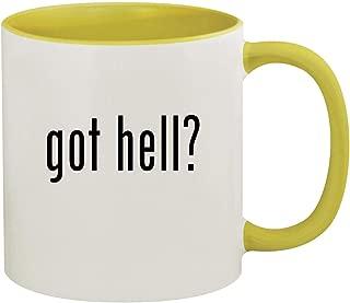 got hell? - 11oz Ceramic Colored Inside & Handle Coffee Mug, Yellow