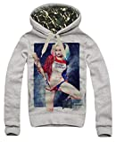 E1SYNDICATE Hoodie Daddy's Lil Monster Harley Quinn Suicide Squad Margot Robbie Gray Medium