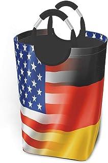N\A Paniers de Rangement de Drapeaux allemands et américains Panier à Linge Sale Flexible Sac Organisateur écologique Char...