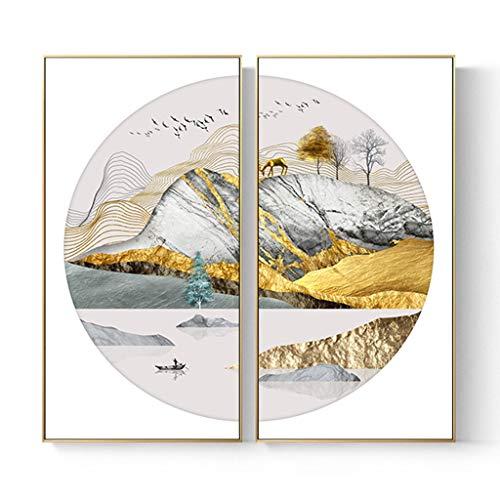 Shuanglian Platz, Dekoration, Malerei, Esszimmer, Wandfarbe, Licht Atmosphäre (Farbe: Gold L, Größe: 60 x 60 cm)