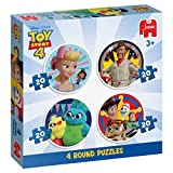 Jumbo 4 in 1 Round Puzzles Disney Pixar Toy Story-Rompecabezas Redondos 4 en 1, Multicolor (19751)