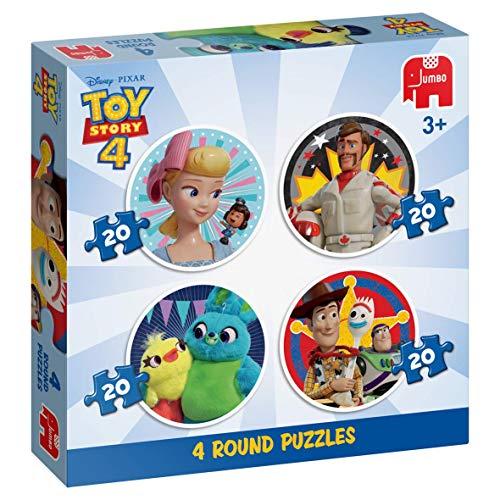Jumbo 19751 - Disney Pixar Toy Story 4-4 in 1 ronde puzzel, meerkleurig