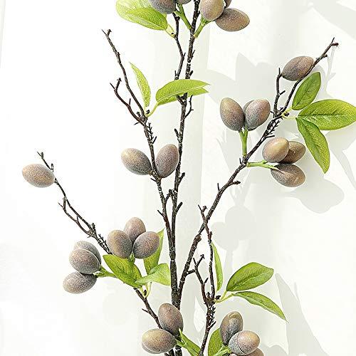 GANHUA Simulatie olijf fruit tak vaas indoor zachte decoratie bloem arrangement groene bessen accessoires woonkamer raam woninginrichting Light red