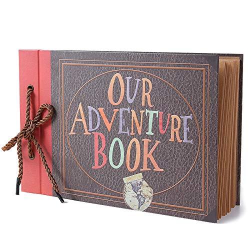 Vienrose Our Adventure Book Scrapbook Photo Album Up Movie Scrap Book DIY for Wedding Best Friend Camping
