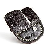Febelle - Guante de Piel con protección para Dedos y Lazos Rectos