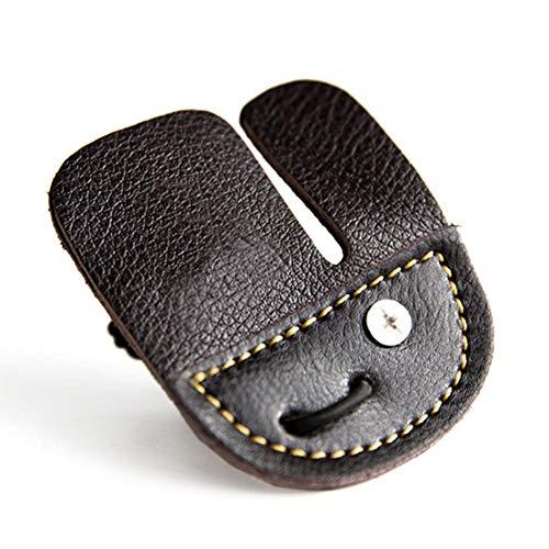 Febelle Fingerschutz für Bogenschießen Handschuh Fingertab Reflexschleife Schleife Rindsleder Schutz