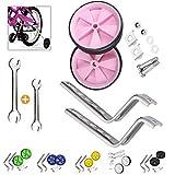 Niños Entrenamiento Ruedines,Bicicleta Estabilizador Ruedas,Ruedines,NiñOs Riding Equipment (Rosa)