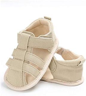 Geagodelia Sandalias para niños, simpáticas, de tela, suela blanda, para pesebre y zócalos, para niño, para el exterior