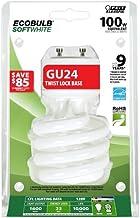 Feit Electric BPESL23T/GU24 Eco Bulb Bpesl23Tm/Gu24 Compact Fluorescent Lamp, 23 W, 120 V, Twist, Gu24, 10000 Hr, 100-Watt