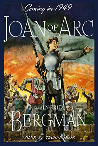 """1949 Joan of Arc Ingrid Bergman American Movie Film Vintage Poster Repro 20"""" X 30"""" Image Size on Matte Paper Shipped Rolled Up -  FinePosters, ROSAN286"""