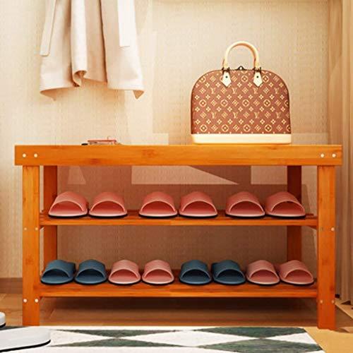 GUOCAO Multi-capa simple multicapa de madera maciza zapatero cambio de zapatos banco de montaje a prueba de polvo zapatero estante de zapatos estantes de casa