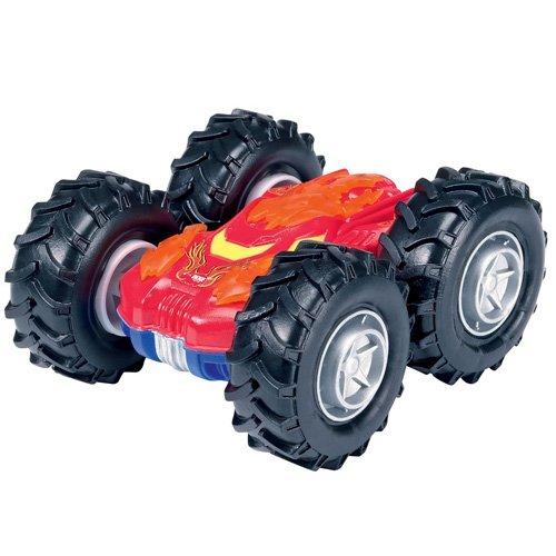 Dickie Toys Crazy Flippy, Überschlagfahrzeug, Spielzeugauto mit Salto Funktion, 4 verschiedene Farben, zufällige Auswahl, 10 cm, ab 3 Jahren