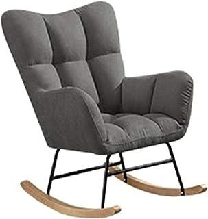 Velours Fauteuil à Bascule,Fauteuil a Bascule Allaitement Adulte,Salon fauteuils de Salon à Bascule,Balcon Loisirs Chaise ...