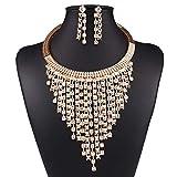 ZCPCS Europa y los Estados Unidos New Street Shot Creative Fashion Jewelry Set Tarea Multicapa en la joyería del Anillo del Collar de Diamantes (Color : One Size)
