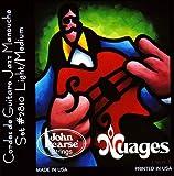 John Pearse Strings® 2810LM Nuages Jeu de Cordes pour Guitare Acoustiques de Maccaferri®/Selmer® Style - Silvered Copper Wound/Silk Wrapped - Light/Medium Gauge 011/046