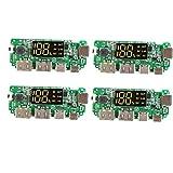 Módulo de visualización de litio cargador de batería Junta 5V 2.4A banco móvil digital de potencia de carga del módulo con pantalla Boost Módulo 4 PCS con los suministros industriales